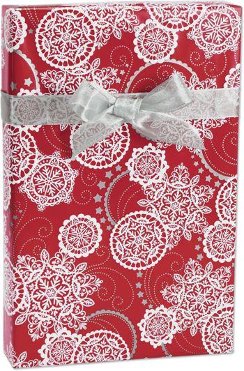 Lacy Snowflakes Gift Wrap, 24