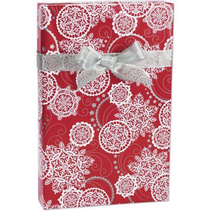 """Lacy Snowflakes Gift Wrap, 24"""" x 100'"""