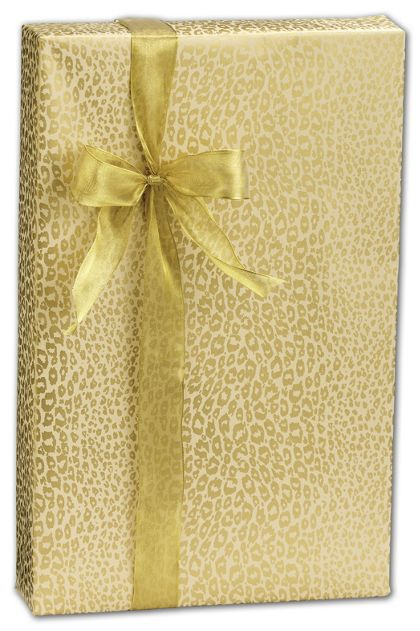 "Golden Cheetah Gift Wrap, 24"" x 100'"