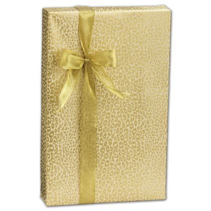 "Golden Cheetah Gift Wrap, 24"" x 417'"