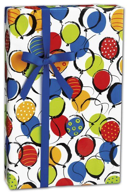 "Balloon Pop Gift Wrap, 24"" x 100'"