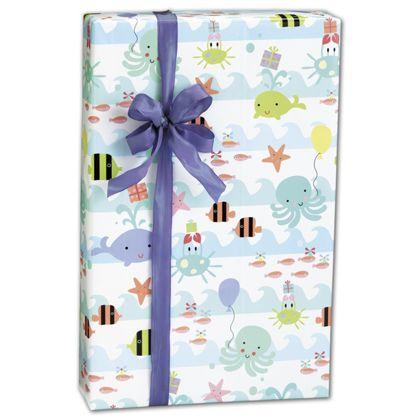 "Sea Babies Gift Wrap, 24"" x 417'"