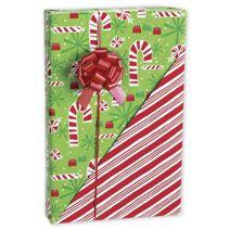 "Contempo Canes Reversible Gift Wrap, 24"" x 417'"