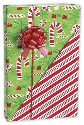 Contempo Canes Reversible Gift Wrap, 24