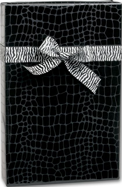 "Mock Croc Jeweler's Roll Gift Wrap, 7 3/8"" x 100'"