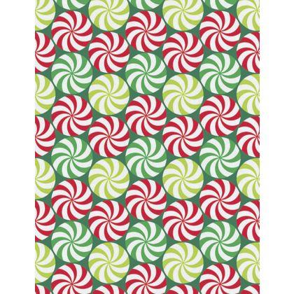 """Peppermint Swirl Gift Wrap, 24"""" x 100'"""