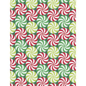 Peppermint Swirl Gift Wrap, 24
