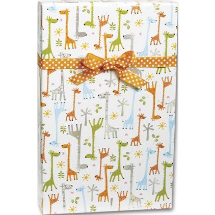 "Baby Giraffes Gift Wrap, 24"" x 100'"