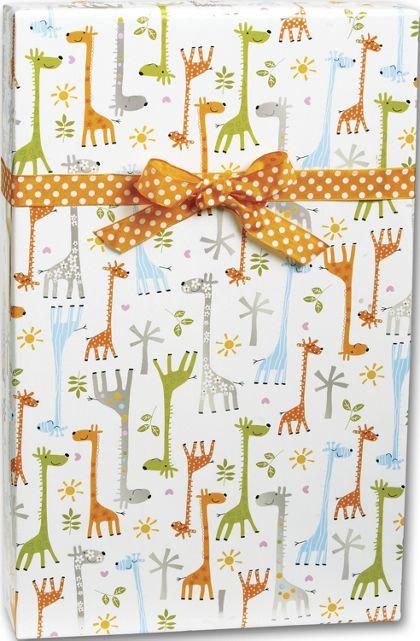 "Baby Giraffes Gift Wrap, 24"" x 417'"
