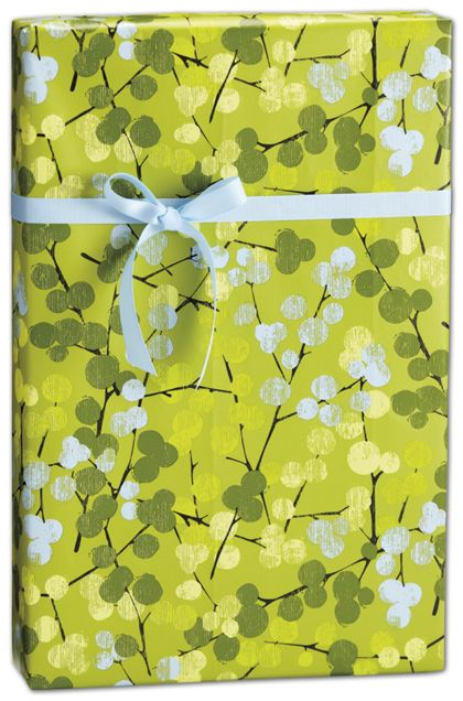 """Berry Branches Gift Wrap, 24"""" x 417'"""