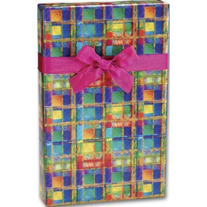 "Power Plaid Gift Wrap, 24"" x 100'"