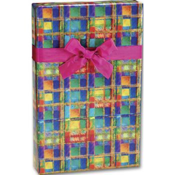 Power Plaid Gift Wrap, 24