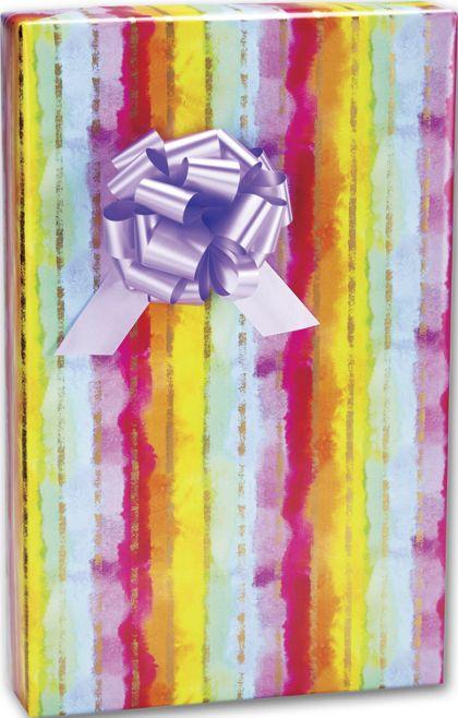 """Rainbow Stripe Gift Wrap, 24"""" x 100'"""