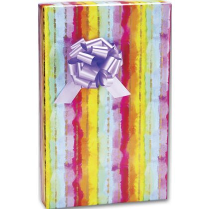 "Rainbow Stripe Gift Wrap, 24"" x 100'"