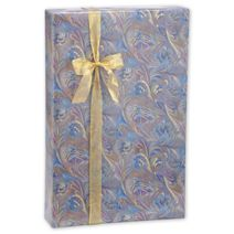 """Marbled Feathers Jeweler's Roll Gift Wrap, 7 3/8"""" x 100'"""