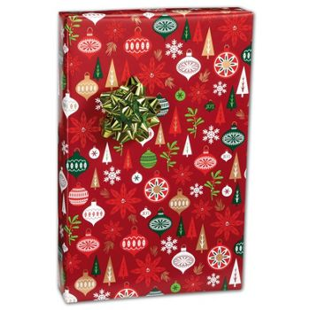"Holiday Happening Gift Wrap, 24"" x 100'"