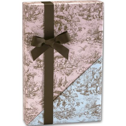 """Baby Toile Reversible Gift Wrap, 24"""" x 417'"""