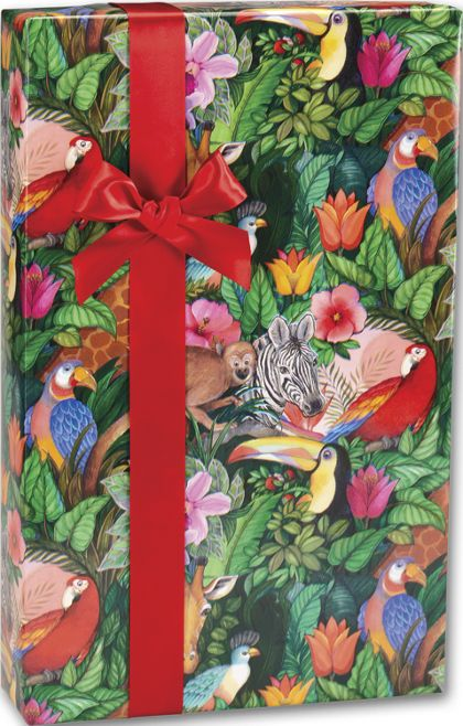 "Jungle Paradise Gift Wrap, 24"" x 100'"