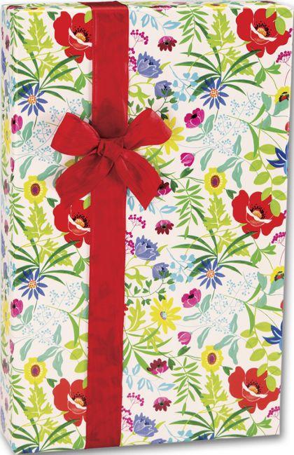 "Summer Garden Gift Wrap, 24"" x 417'"