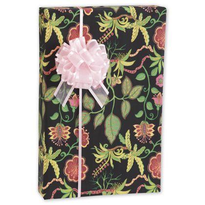 "Silk Botanical Fantasy Gift Wrap, 24"" x 100'"