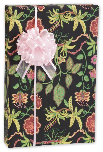 "Silk Botanical Fantasy Gift Wrap, 24"" x 417'"