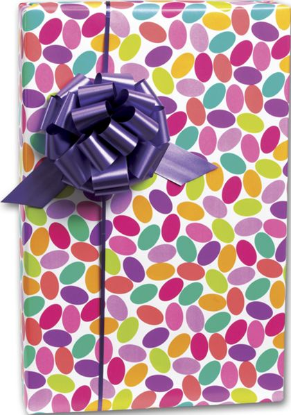 "Candy Confetti Gift Wrap, 24"" x 100'"