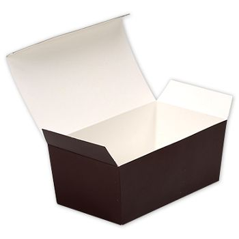 Brown Paper Ballotin Boxes, 5 7/8 x 3 1/4 x 2 1/2
