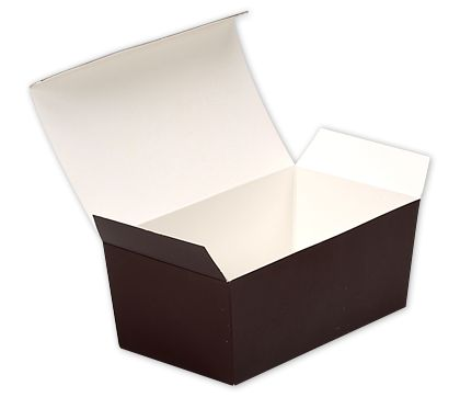 Brown Paper Ballotin Boxes, 5 7/8 x 3 1/4 x 2 1/2""