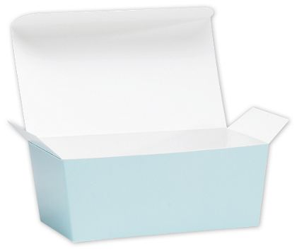 Light Blue Ballotin Candy Boxes, 5 7/8 x 3 1/4 x 2 1/2