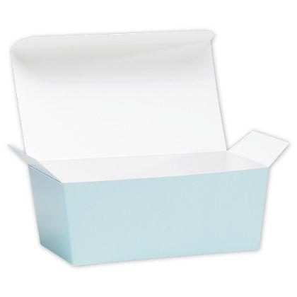 Light Blue Ballotin Candy Boxes, 5 7/8 x 3 1/4 x 2 1/2