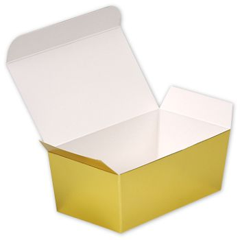 Bright Gold Paper Ballotin Boxes, 5 7/8 x 3 1/4 x 2 1/2