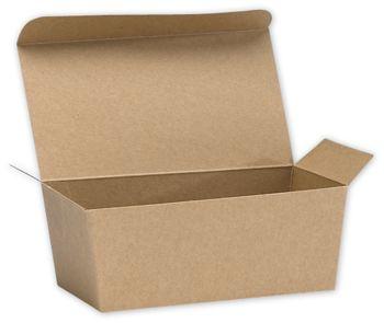 Kraft Ballotin Candy Boxes, 5 7/8 x 3 1/4 x 2 1/2