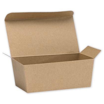 "Kraft Ballotin Candy Boxes, 5 7/8 x 3 1/4 x 2 1/2"""