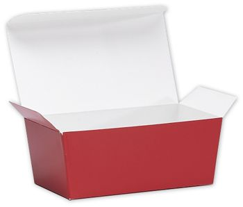 Red Ballotin Candy Boxes, 5 7/8 x 3 1/4 x 2 1/2