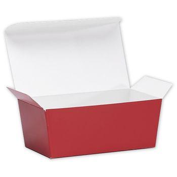 "Red Ballotin Candy Boxes, 5 7/8 x 3 1/4 x 2 1/2"""