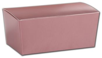 Rose Gold Ballotin Boxes, 5 7/8 x 3 1/4 x 2 1/2
