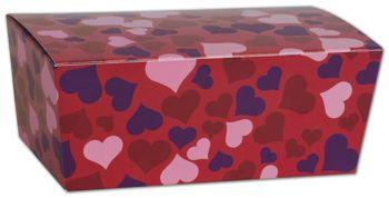 Valentine's Paper Ballotin Boxes, 5 7/8 x 3 1/4 x 2 1/2