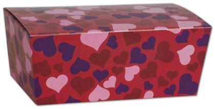 "Valentine's Paper Ballotin Boxes, 5 7/8 x 3 1/4 x 2 1/2"""