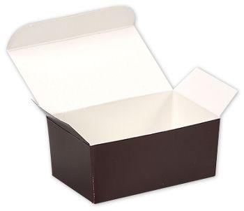 Brown Paper Ballotin Boxes, 4 1/8 x 2 5/8 x 1 7/8