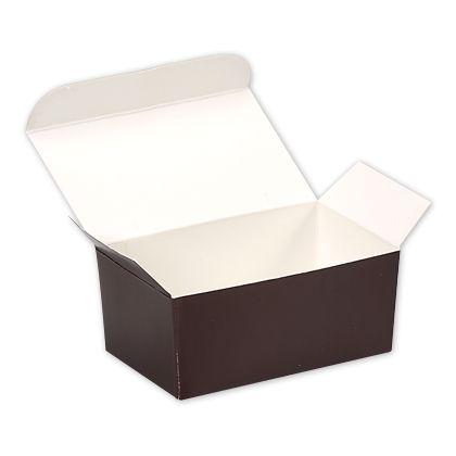 """Brown Paper Ballotin Boxes, 4 1/8 x 2 5/8 x 1 7/8"""""""