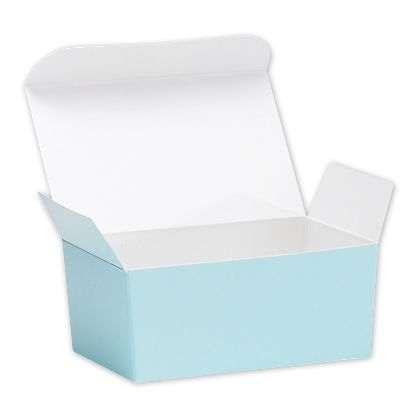 Light Blue Ballotin Candy Boxes, 4 1/8 x 2 5/8 x 1 7/8