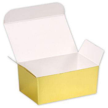 Bright Gold Paper Ballotin Boxes, 4 1/8 x 2 5/8 x 1 7/8