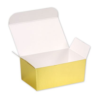 Bright Gold Paper Ballotin Boxes, 4 1/8 x 2 5/8 x 1 7/8""