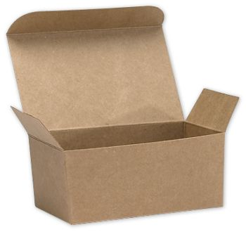 Kraft Ballotin Candy Boxes, 4 1/8 x 2 5/8 x 1 7/8