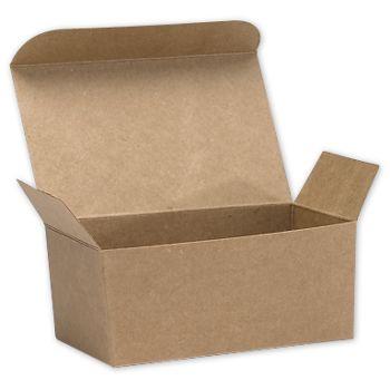 "Kraft Ballotin Candy Boxes, 4 1/8 x 2 5/8 x 1 7/8"""