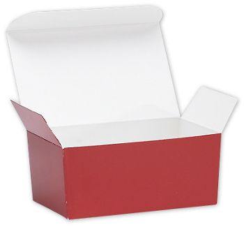 Red Ballotin Candy Boxes, 4 1/8 x 2 5/8 x 1 7/8