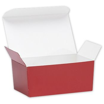 Red Ballotin Candy Boxes, 4 1/8 x 2 5/8 x 1 7/8""