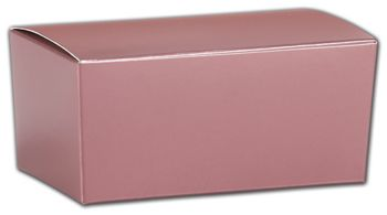Rose Gold Ballotin Boxes, 4 1/8 x 2 5/8 x 1 7/8