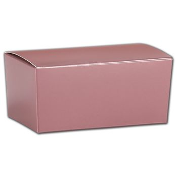 Rose Gold Ballotin Boxes, 4 1/8 x 2 5/8 x 1 7/8""