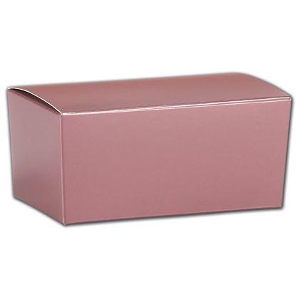 "Rose Gold Ballotin Boxes, 4 1/8 x 2 5/8 x 1 7/8"""